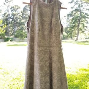 Lauren Conrad Fit and Flare Cut Out Mini Dress NWT